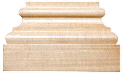 """Extra Large Square Plynth, 8""""w x 5""""h x 2 1/4""""d, Lindenwood picture"""