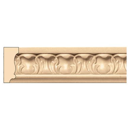 Acanthus Panel Mould(Repeats 1 5/8), 1 1/2''w x 5/8''d x 8' length, Cherry picture