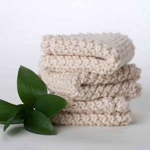 3 pack Multi-purpose Scrub Cloths-Organic Cotton picture