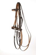 Hunt style Weymouth Bridle with Plain Cavesson