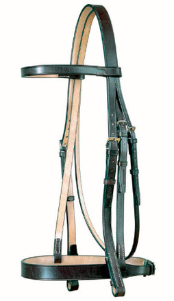Headstall with Plain Cavesson picture