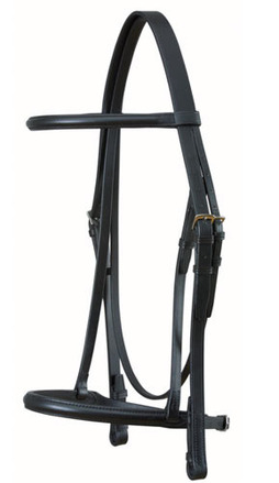 Snaffle with Show Noseband and Rubber Grip Reins picture