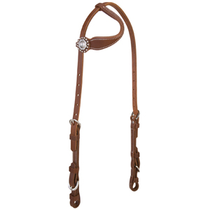 Stacy Westfall ProTack Oiled Flat Sliding Ear Headstall picture