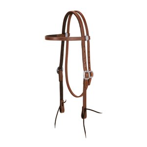 ProTack Chap Lined Harness Leather Browband Headstall, 5/8&quot; picture