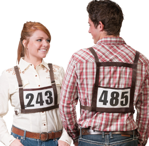 Exhibitor Number Harness, Medium/Large - Adult picture