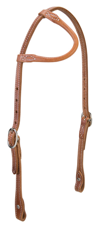 Rolled Sliding Ear Stitched Headstall picture