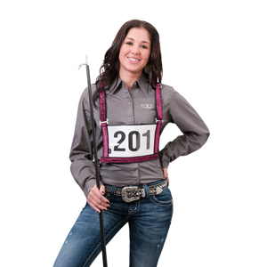 Exhibitor Number Harness with Sparkle Overlay, Medium/Large - Adult picture