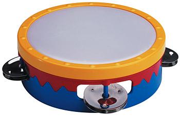 """6"""" multi-colored tambourine picture"""