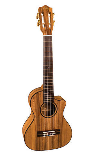 Lanikai Solid Monkey Pod Tenor Cutaway Ukulele picture