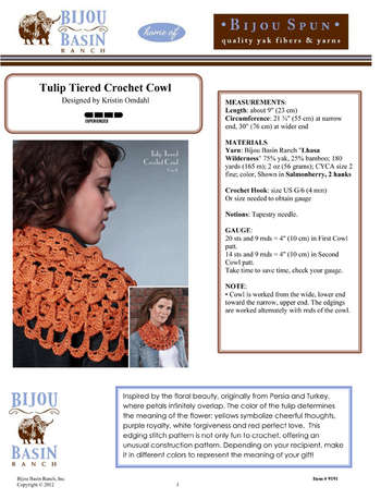 Tulip Tiered Crochet Cowl Kit picture