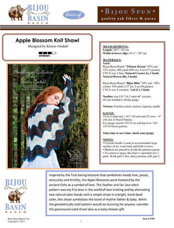 Apple Blossom Knit Shawl Kit picture