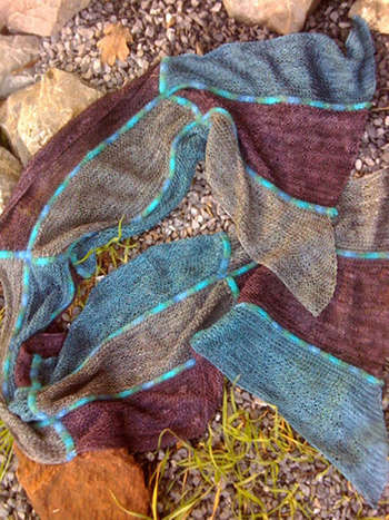 Waterfall Scarf pattern picture