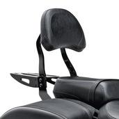 Black Billet Passenger Backrest Large Pad