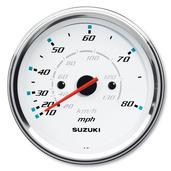 "4"" Speedometer 80 mph - White"