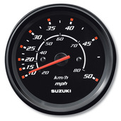 "4"" Speedometer 50 mph - Black"