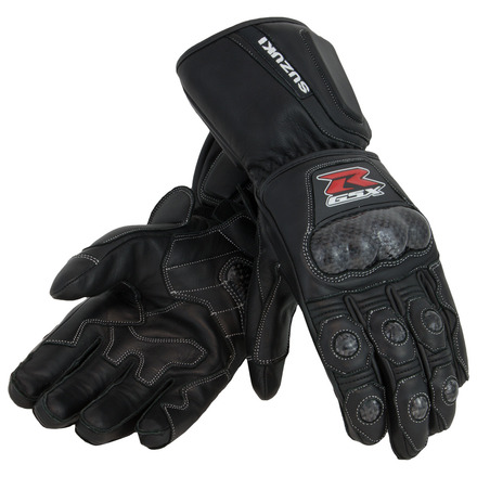 GSX-R Leather Gauntlet Gloves, Black picture