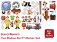 Fire Station No. 7™ Extra Large Set of Stickers