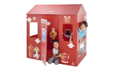 Box-O-Mania's Fire Station No.7™ Junior Play Box Deluxe Kit (in Apple Red™)