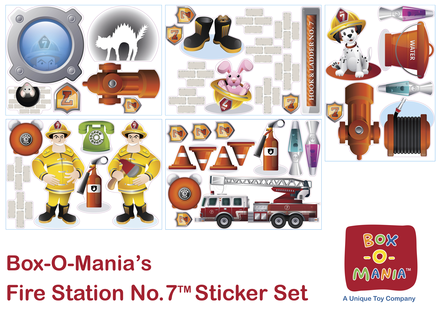 Fire Station No. 7&#8482; Extra Large Set of Stickers picture