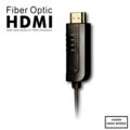Rainbow Fish Fiber Optic HDMI  Cable (Professional) - 100' Black