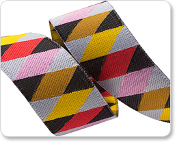 "7/8"" Pink Red Brown Yellow Harlequin picture"