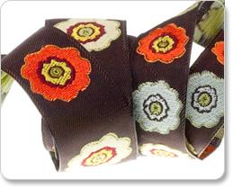 """7/8"""" Primrose Flower in Orange/Brown - By Laura Foster Nicholson picture"""