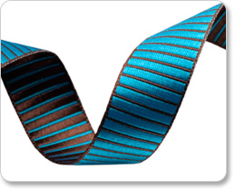 "5/8""-Turquoise/Brown Reversible Satin Stripes picture"