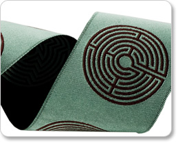"""2"""" Labyrinths  in Brown/Aqua - By Laura Foster Nicholson picture"""