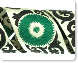 "1-1/2"" Samarkand in Green/Black - By Laura Foster Nicholson picture"