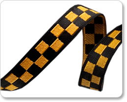 "3/8"" Black & Gold Checkerboard - Luella Doss picture"