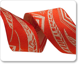 """7/8"""" Orange/Beige Feather - Anna Maria Horner picture"""