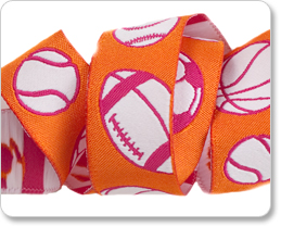 """7/8"""" Sport in Orange/White picture"""