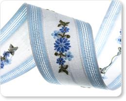 "1-1/4"" Blue Floral Flower picture"