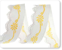 """5/8"""" Yellow Scallop Edged Flower picture"""