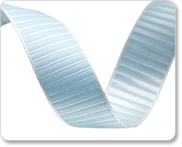 "5/8""-Blue Pastel Reversible Satin Stripes picture"