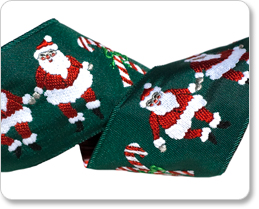 "1-1/2"" Dancing Santa Claus in Red/Green/White picture"