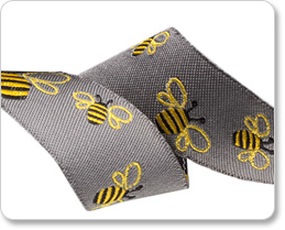 "7/8"" Bees on Gray - Sue Spargo picture"