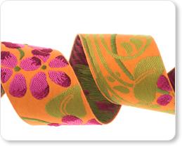 "1-1/2""-Fuchsia Flower On Orange picture"