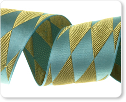 "1-1/2""- Harlequin in Blue/Gold picture"