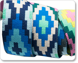 "7/8"" Blue Green & Yellow Spirit Weave - Hapi by Amy Butler picture"