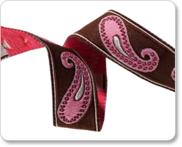 """5/8""""-Brown/Pink Paisley picture"""