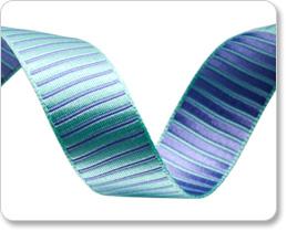 "5/8""-Turquoise/Lavender Reversible Satin Stripes picture"