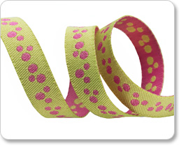 "3/8"" Mini Dots Pink & Lime Reversible by Nancy Zieman picture"
