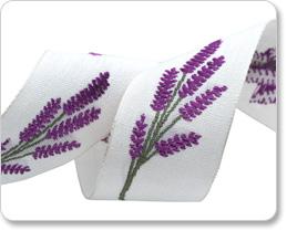 """1-5/8"""" Linen Lavender Magenta/white picture"""