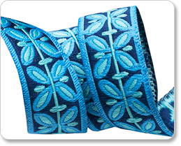 "5/8"" Blue Filigree - Hapi by Amy Butler picture"