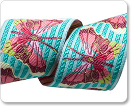 """1-1/2""""Turquoise Stripe Butterfly picture"""