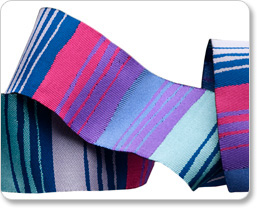 "1-1/2"" Blue & Purple Phase Stripe - Kaffe Fassett picture"