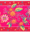"Enchantee Pink Flowers on Pink 5"" wide - Printed Velvet Border additional picture 1"