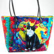 Sewing Project Kit-Jean Pierre- Black and white Cat -Velvet Bag additional picture 1