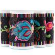 """Fleury -Floral Design on Black 2 3/4"""" wide - Printed Velvet Border additional picture 1"""